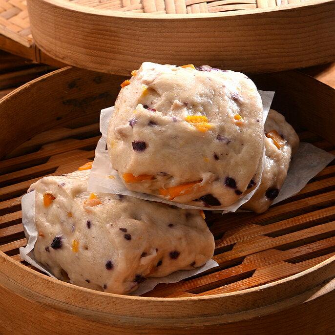 【開心手工饅頭包子】紫玉饅頭 1包5入 {每顆約110g±7g}-全館消費滿2000元免運!
