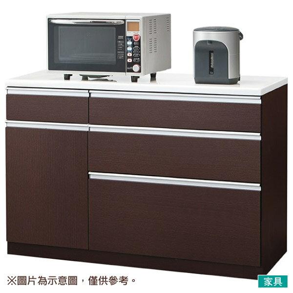 ◎廚房櫃台 CULY2 120CT DBR NITORI宜得利家居 0