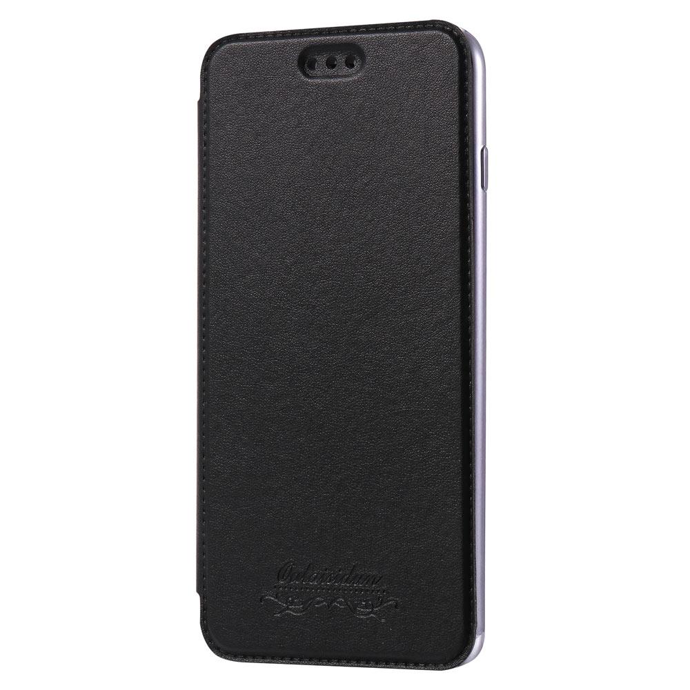 Outlet特價品Apple iPhone 7 Plus/8 Plus 共用透明電鍍邊框側掀美背皮套 手機殼/保護套 經典黑專區 1 $ 79