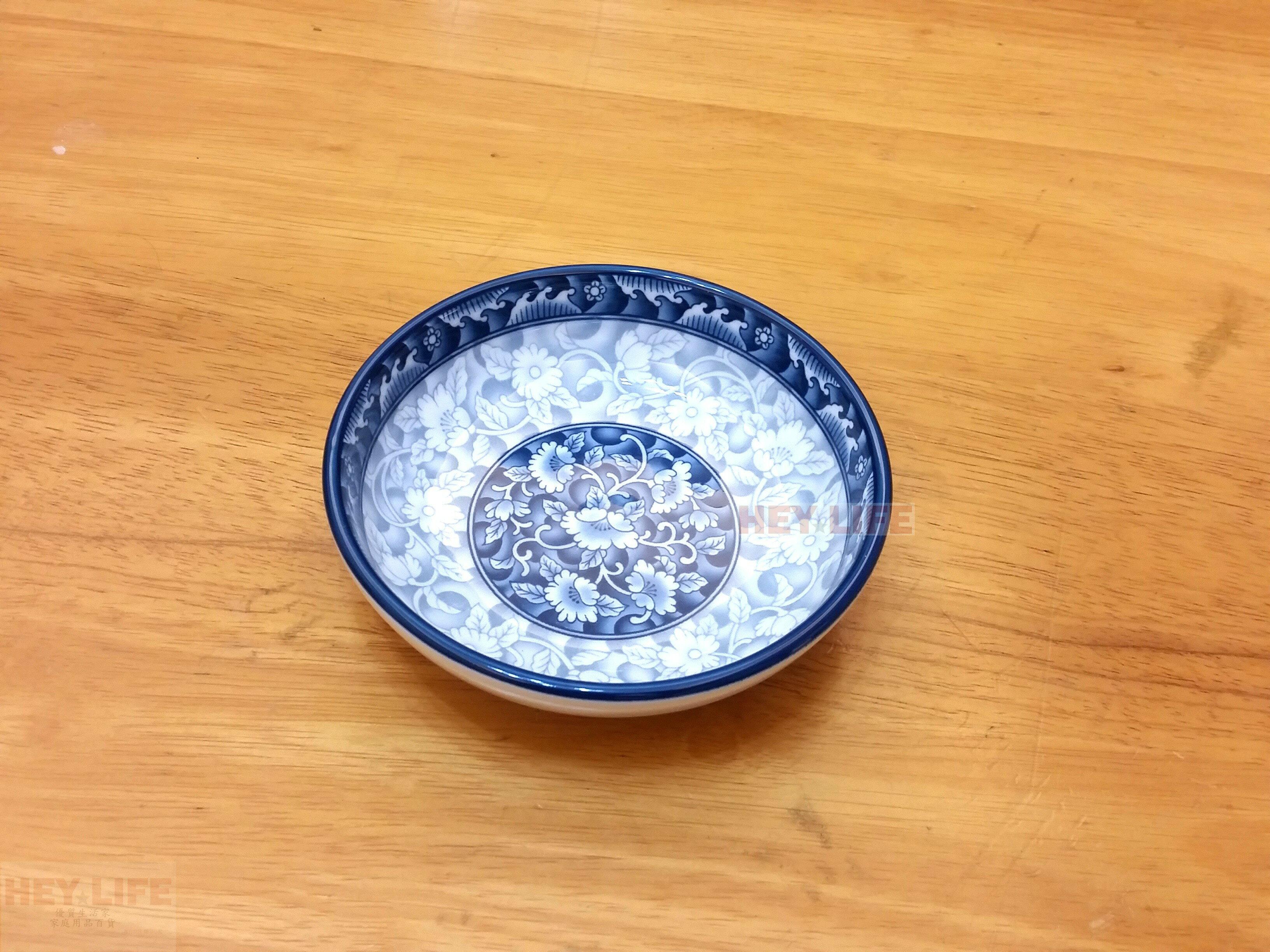 【HEYLIFE優質生活家】【瓷器工藝】4.4醬油小碟 鳳凰藍牡丹 韓國製造 品質保證