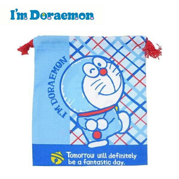眨眼款【日本正版】哆啦A夢束口袋收納袋抽繩束口袋小叮噹DORAEMON三麗鷗Sanrio-465018
