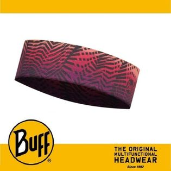 ├登山樂┤西班牙BUFFCOOLMAX抗UVSlim頭巾-紫黃折線#BF113657-555