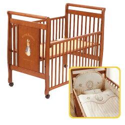 【促銷】奇哥 比得兔 原木大床+優雅比得兔六件式寢具組/床組 (L)