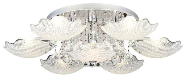 水晶奢華風★設計感X華麗金屬電鍍玻璃6燈半吸頂燈★永旭照明LS-5048-2(101416+1)