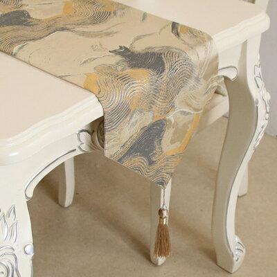 桌旗 餐桌桌旗電視櫃歐式美式簡約現代家用樣板間金色高檔奢華茶几桌布『LM1032』
