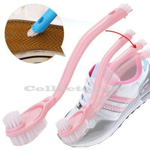 【F15113002】多功能雙頭長柄清潔洗鞋刷 洗鞋專用清潔刷