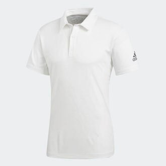 ADIDAS CLIMACHILL POLO 男装 上衣 短袖 POLP衫 凉感 抗紫外线 白【运动世界】CD3200