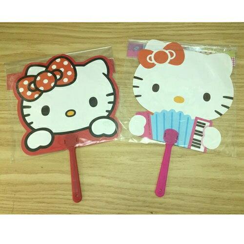 【真愛日本】17050600034 雙面手搖扇-KT2款 三麗鷗 Hello Kitty 凱蒂貓 扇子 清涼 夏日用品