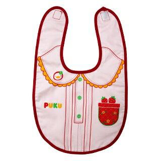 『121婦嬰用品館』PUKU 禮服造型雙層圍兜- 粉 0