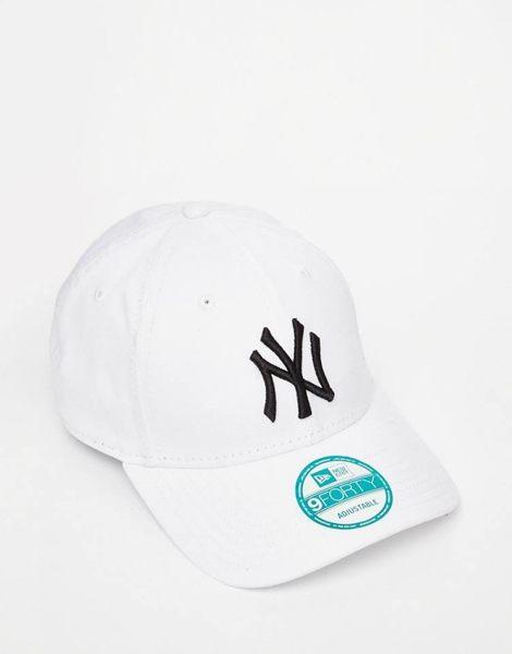 【蟹老闆】New Era 洋基 LOGO NY York Yankees Cap 老帽 白色