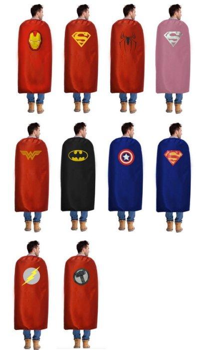 萬聖節披風 超人披風 蜘蛛人 蝙蝠俠披風 鋼鐵人 美國隊長 神力女超人 復仇者聯盟