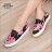 ★399免運★格子舖*【KP326】MIT台灣製 嚴選巴黎蝴蝶結貓咪圖案 鬆緊舒適休閒懶人鞋 樂福鞋 2色 1