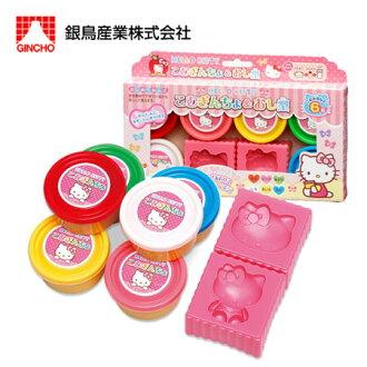 日貨 正版Kitty黏土玩具 (6色) 黏土 壓模 家家酒 兒童玩具 凱蒂貓 三麗鷗【N101225】
