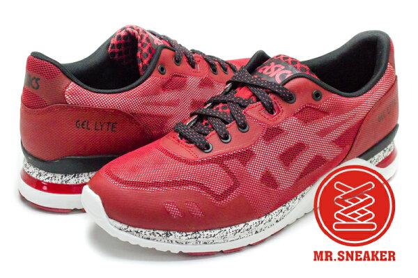 ☆Mr.Sneaker☆ASICSTigerEVONT機能科技感運動鞋H641N2501紅黑色男段