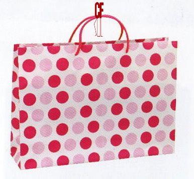 紙袋2K~20入~粉紅圓點~棉把手 pbag~009
