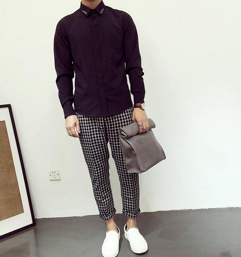 歐美 刺繡 暗黑 襯衫 高品質 正式 非LV.GU.LOVE.品牌