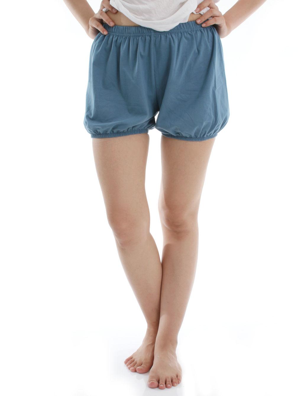 360度 全方位防走光!RTBU瑜珈褲~燈籠褲造型。藍綠色