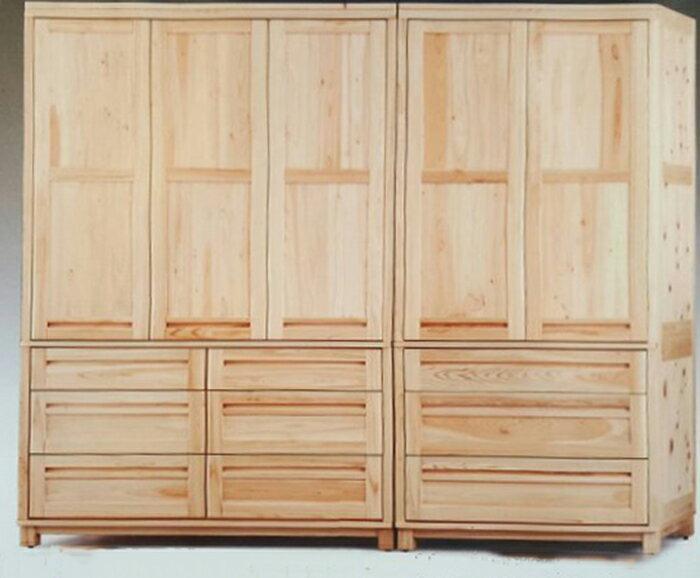 【尚品傢俱】919-05 全實木日本檜木7尺衣櫥/衣櫃/收納衣櫥