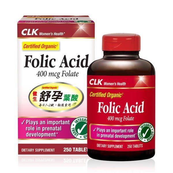 CLK健生舒孕葉酸400mcg250顆瓶◆德瑞健康家◆