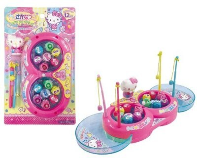 【真愛日本】16030400055 玩具-釣魚玩具8字形 三麗鷗 Hello Kitty 凱蒂貓