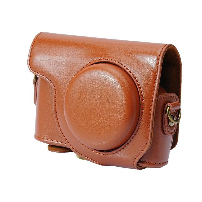 【和信嘉】CASIO ZR3600 ZR3500 可拆式相機皮套 (棕色/咖啡色) Kamera 復古相機包