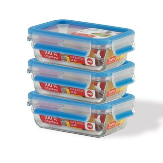 【德國EMSA】0.5L玻璃保鮮盒3件組(514170)