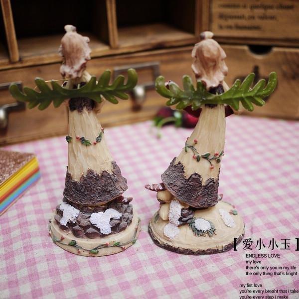 【叢林精靈】趣味家居裝飾品創意雜玩田園工藝品擺設一對