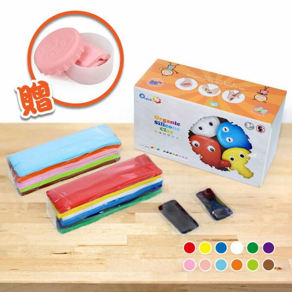 【Q-doh】有機矽膠黏土-量販盒全色(12色)送粉色黏土 21120000