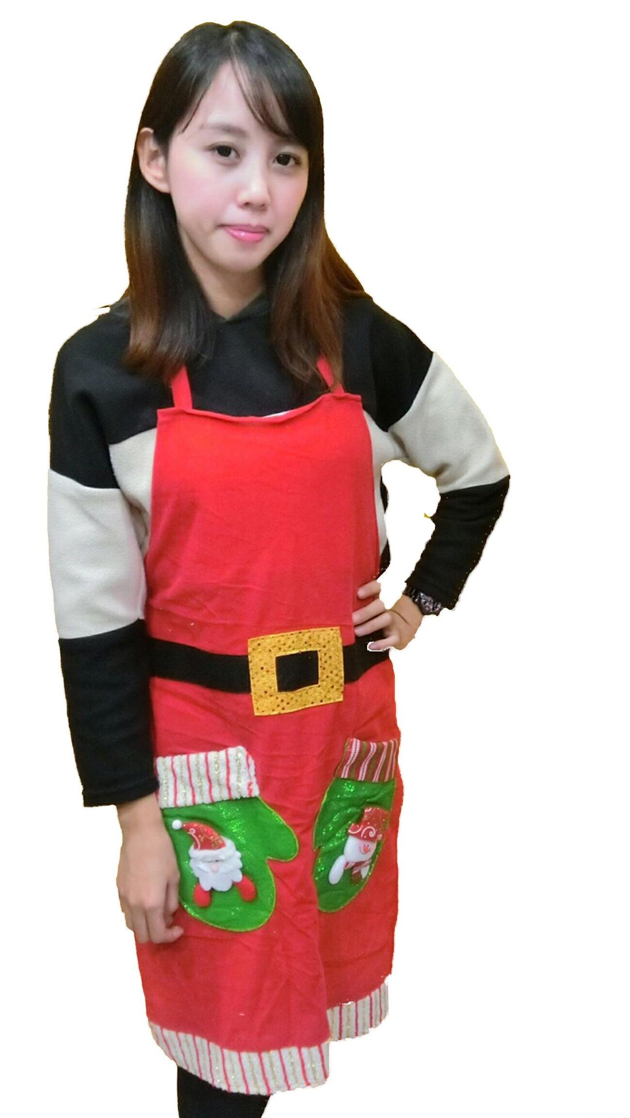 X射線【X294464】聖誕造型圍裙(綁帶式),聖誕/聖誕老公公裝/聖誕圍裙/角色扮演/聖誕衣/圍裙/老公公/情趣