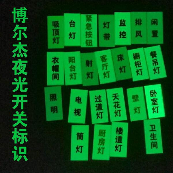 美琪(居家小物)夜光貼紙開關貼超亮自發光標籤貼紙家用開關標識
