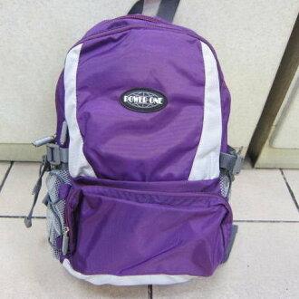 ~雪黛屋~POWERONE BAG 電腦後背包 可放小型尺吋筆電 防水尼龍布材質外出上學萬用包33-839 紫