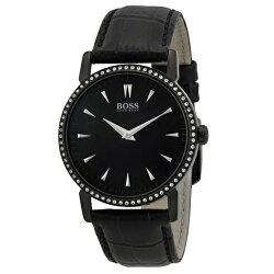 Hugo Boss Black簡約流線時尚皮帶女錶/H1502303