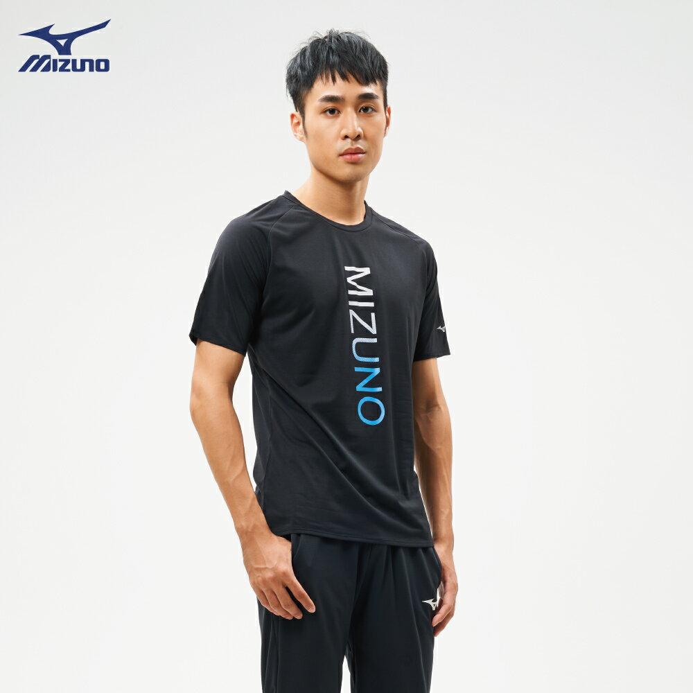 男款路跑袖T恤 J2TA900909(黑)【美津濃MIZUNO】 0