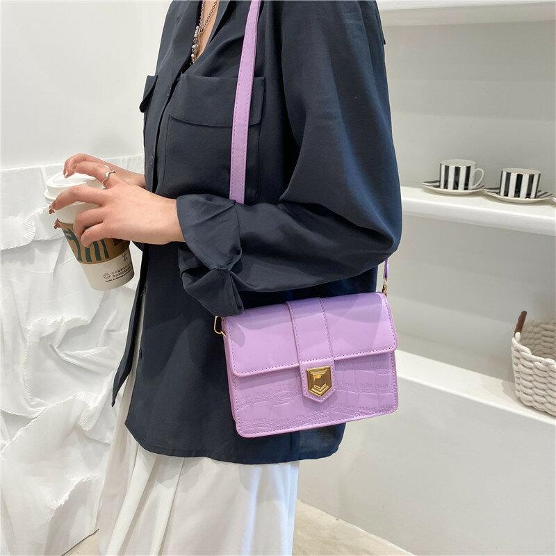 時尚質感小包包女2021新款潮春夏時尚簡約氣質洋氣單肩斜挎小方包