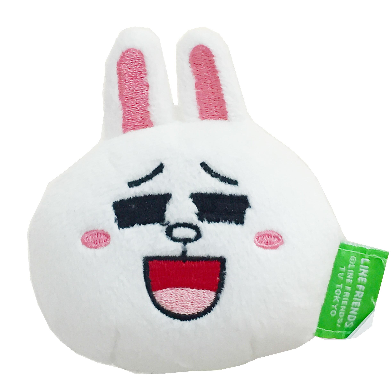 LINE 兔兔 磁鐵 臉型 玩偶 文具 禮物 正版日本進口 * JustGirl *