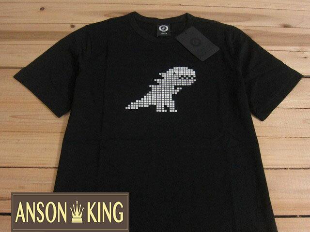 [Anson king]outlet國外代購 agnes b.燙銀恐龍 短袖 圓領 男款 T恤 黑 - 限時優惠好康折扣