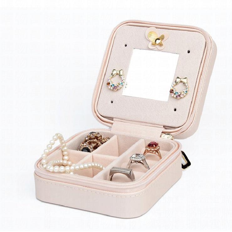 【隨身飾品收納盒】飾品盒 珠寶盒 鏡子珠寶盒 首飾盒 首飾收納盒 飾品收納【AB108】 0