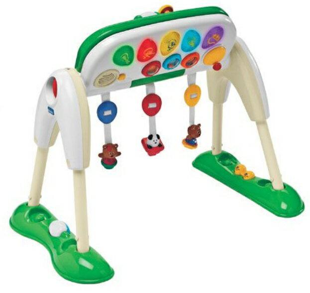 【淘氣寶寶】Chicco 多功能音樂健力架(三合一玩具架、遊戲盤、音樂鍵盤)