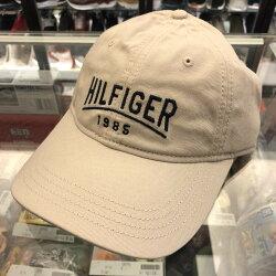 BEETLE TOMMY HILFIGER CAP 卡其色 文字LOGO 經典LOGO 老帽 棒球帽 可調式 男女款
