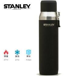 Stanley 大師系列真空保溫瓶/不鏽鋼保溫水壺 提把款 1L 黑 10-03106