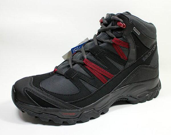 [陽光樂活=]SALOMONSHINDOGTX防水透氣耐磨中筒登山鞋L39967400灰黑紅