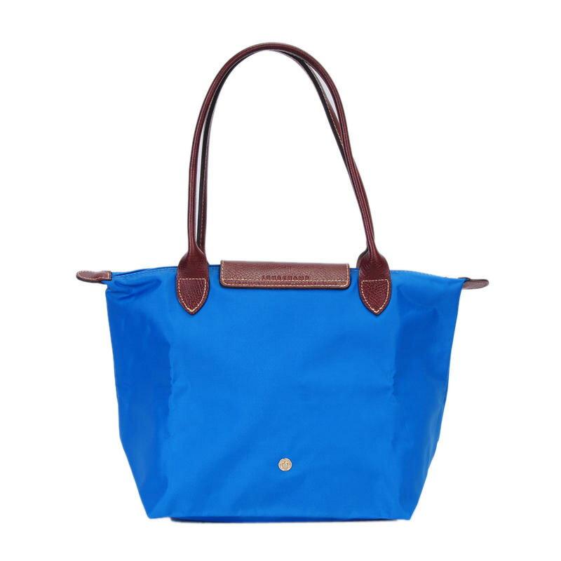 [2605-S號] 國外Outlet代購正品 法國巴黎 Longchamp 長柄 購物袋防水尼龍手提肩背水餃包 佛青藍 2