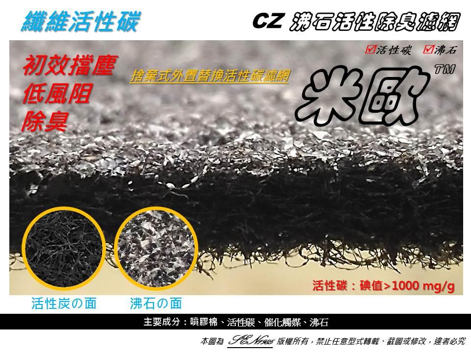 【米歐】買10送1 第一層 加強型 抗菌沸石活性碳CZ除臭濾網 佳醫 超淨 AIR-05W 空氣清淨機 同SF-3802