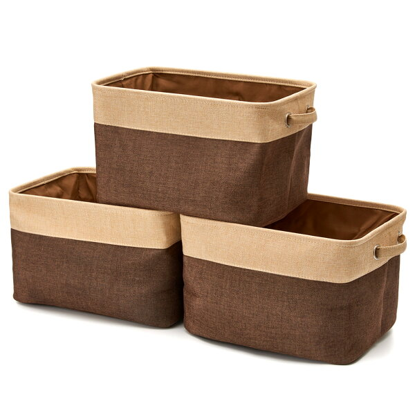 Foldable Canvas Storage Collapsible Folding Box Fabric Cube Cloth Basket Bag Lid