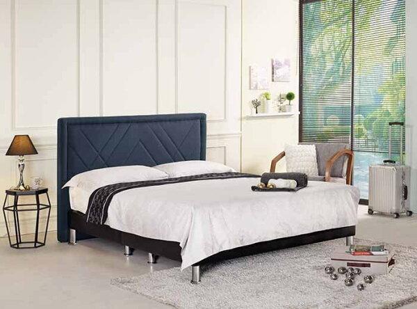 【尚品傢俱】CM-161-2查爾5尺雙人床(深藍布,另有六尺)