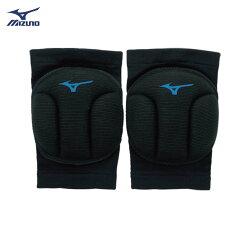 [陽光樂活=]MIZUNO美津濃 加厚型易彎排球護膝 -V2TY810192 黑X水藍