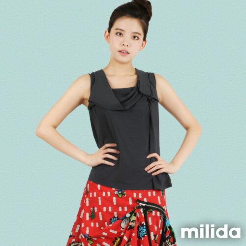 【Milida,全店七折免運】-春夏商品-無袖款-造型T恤設計