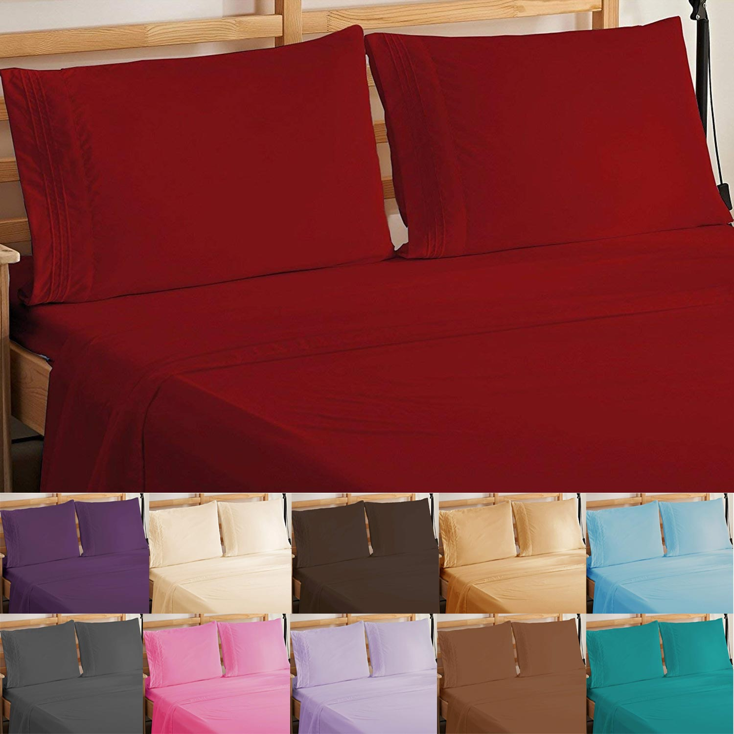 4 Piece Elegant Comfort 1500 Thread Count Egyptian Quality Luxury Bed Sheet Set 0