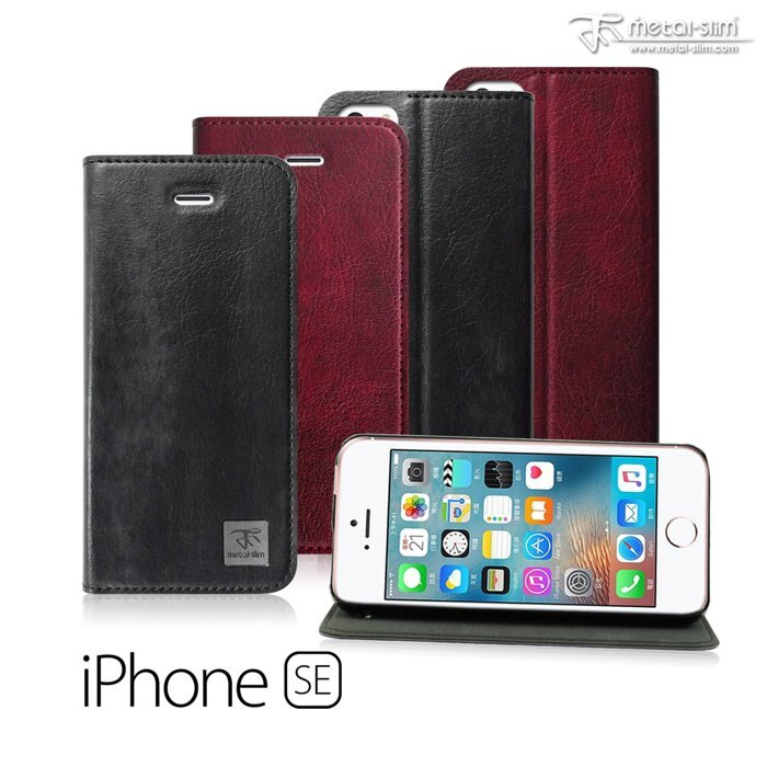 Metal-Slim 復古紋可立式保護皮套/APPLE IPHONE SE/5/5S/手機殼/手機皮套【馬尼行動通訊】