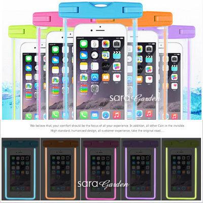 夜光 螢光 手機 防水袋 潛水袋 掛繩 保護套 手機袋 透明套 衝浪 iPhone 6 6S Plus G5 S7 10 Z5 M9 R7S Z5 NOTE5【D0220199】